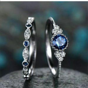 Jewelry - Round Cut SapphireRing 925 Silver